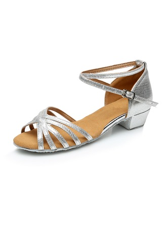 Kids' Leatherette Latin Ballroom Party Tango With Ankle Strap Dance Shoes