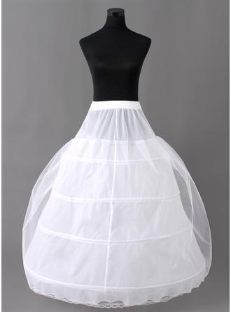 Women Nylon/Tulle Netting Floor-length 2 Tiers Petticoats