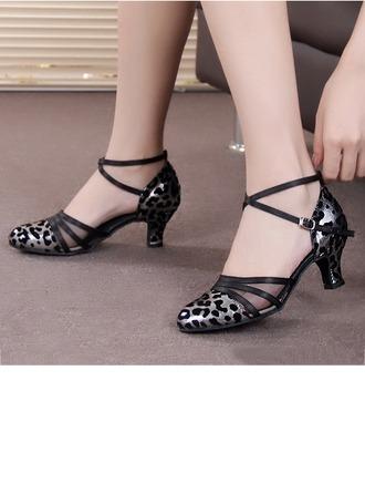 Women's Leatherette Suede Heels Latin Modern Dance Shoes