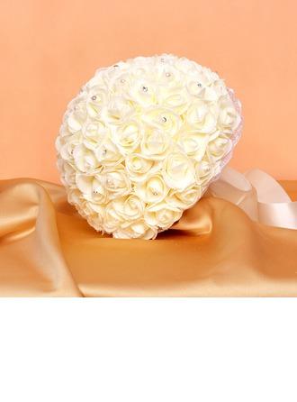 Colorful Round Satin/PE Bridal Bouquets/Bridesmaid Bouquets
