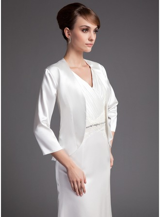 3/4-Length Sleeve Charmeuse Special Occasion Wrap