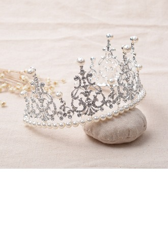 Beautiful/Elegant Rhinestone/Alloy/Imitation Pearls Tiaras