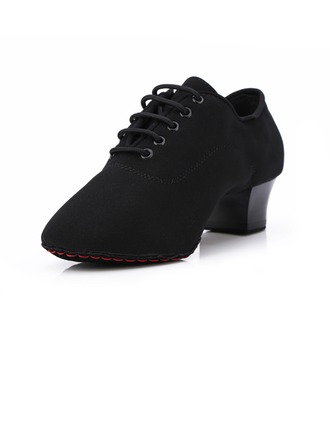 Women's Kids' Suede Heels Pumps Modern With Lace-up Dance Shoes