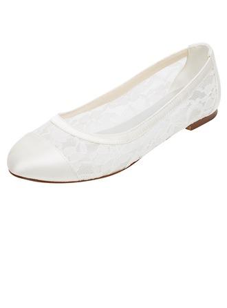 Women's Silk Like Satin Flat Heel Closed Toe Flats