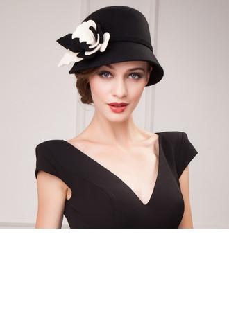 Ladies' Elegant Autumn/Winter Wool With Bowler/Cloche Hat