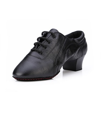 Women's Men's Kids' Leatherette Heels Pumps Modern With Lace-up Dance Shoes