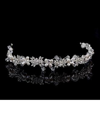 Rhinestone/Alloy/Imitation Pearls Headbands