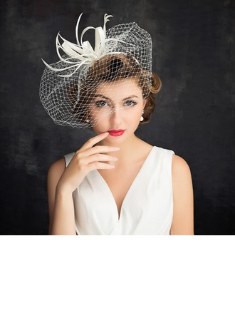 Ladies' Romantic Cambric/Feather/Tulle With Tulle Fascinators