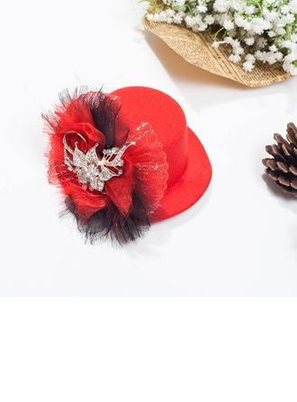 Ladies' Nice Spring/Autumn/Winter Wool With Tulle Fascinators