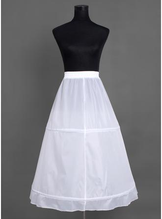 Women Nylon Tea-length 1 Tiers Petticoats