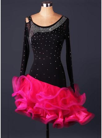Women's Dancewear Spandex Organza Latin Dance Leotards