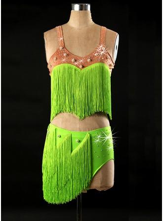 Women's Dancewear Spandex Latin Dance Outfits
