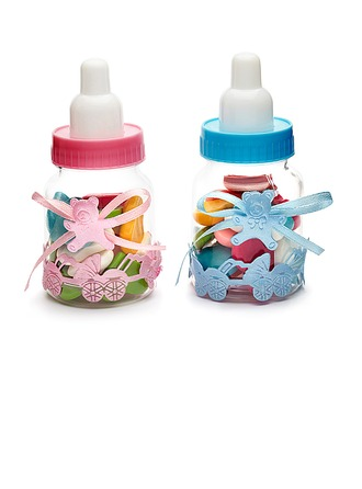 Baby Bear Candy Jars and Bottles With Ribbons
