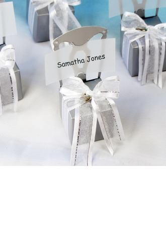Chair Design Cubic Favor Boxes With Ribbons