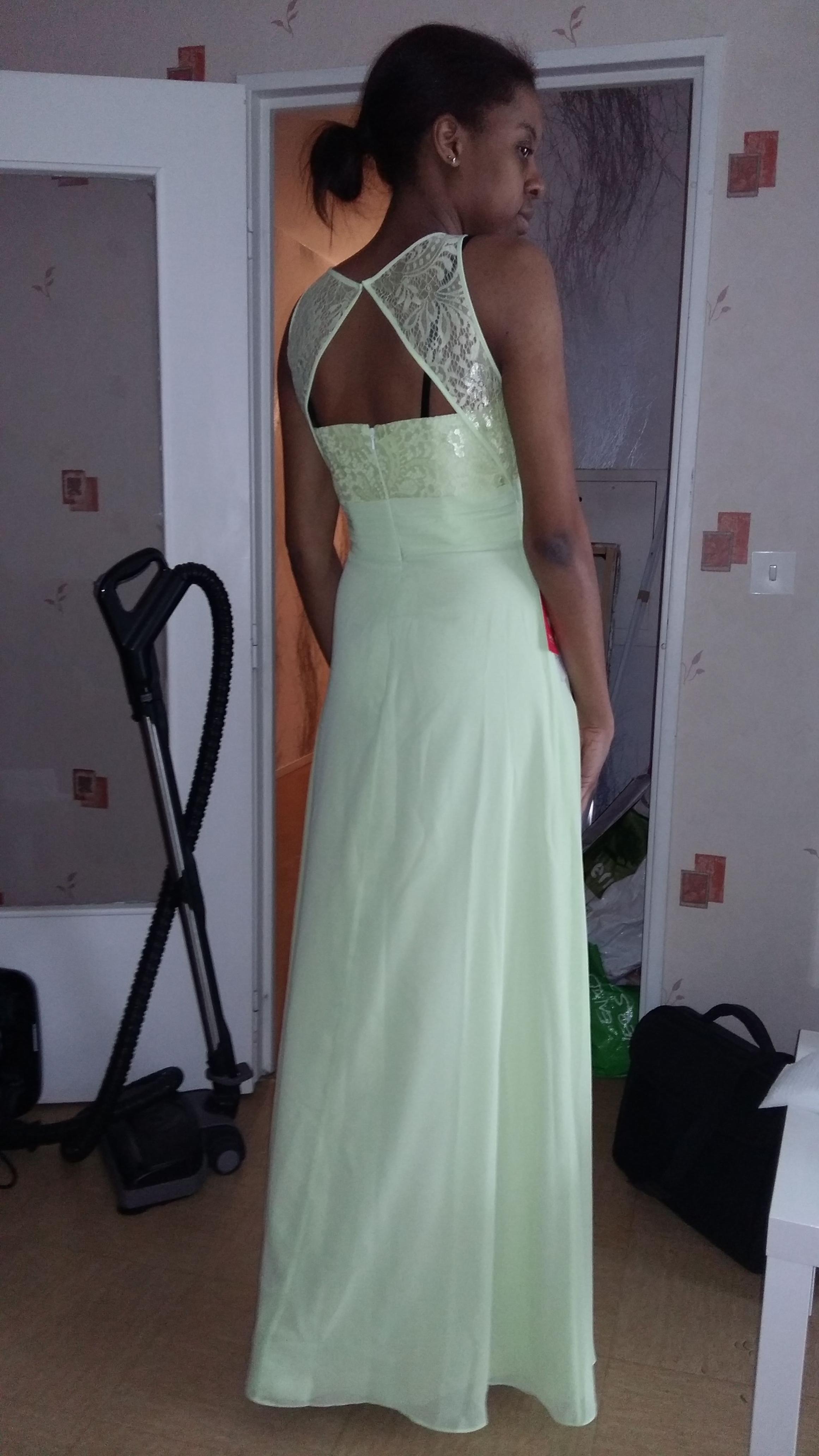 A-Line/Princess Scoop Neck Floor-Length Chiffon Lace Bridesmaid ...