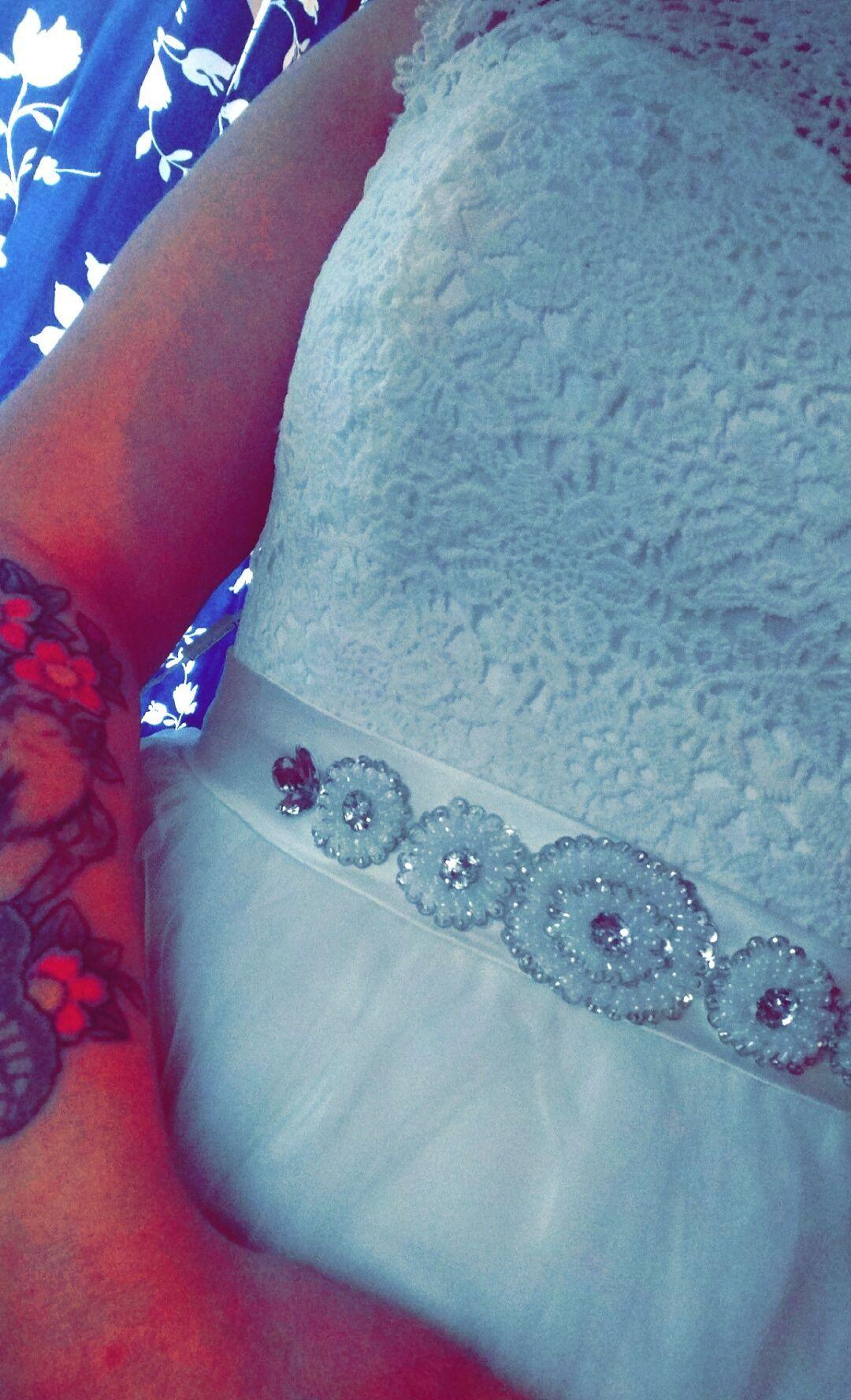 A-Line/Princess Scoop Neck Tea-Length Tulle Lace Wedding ...