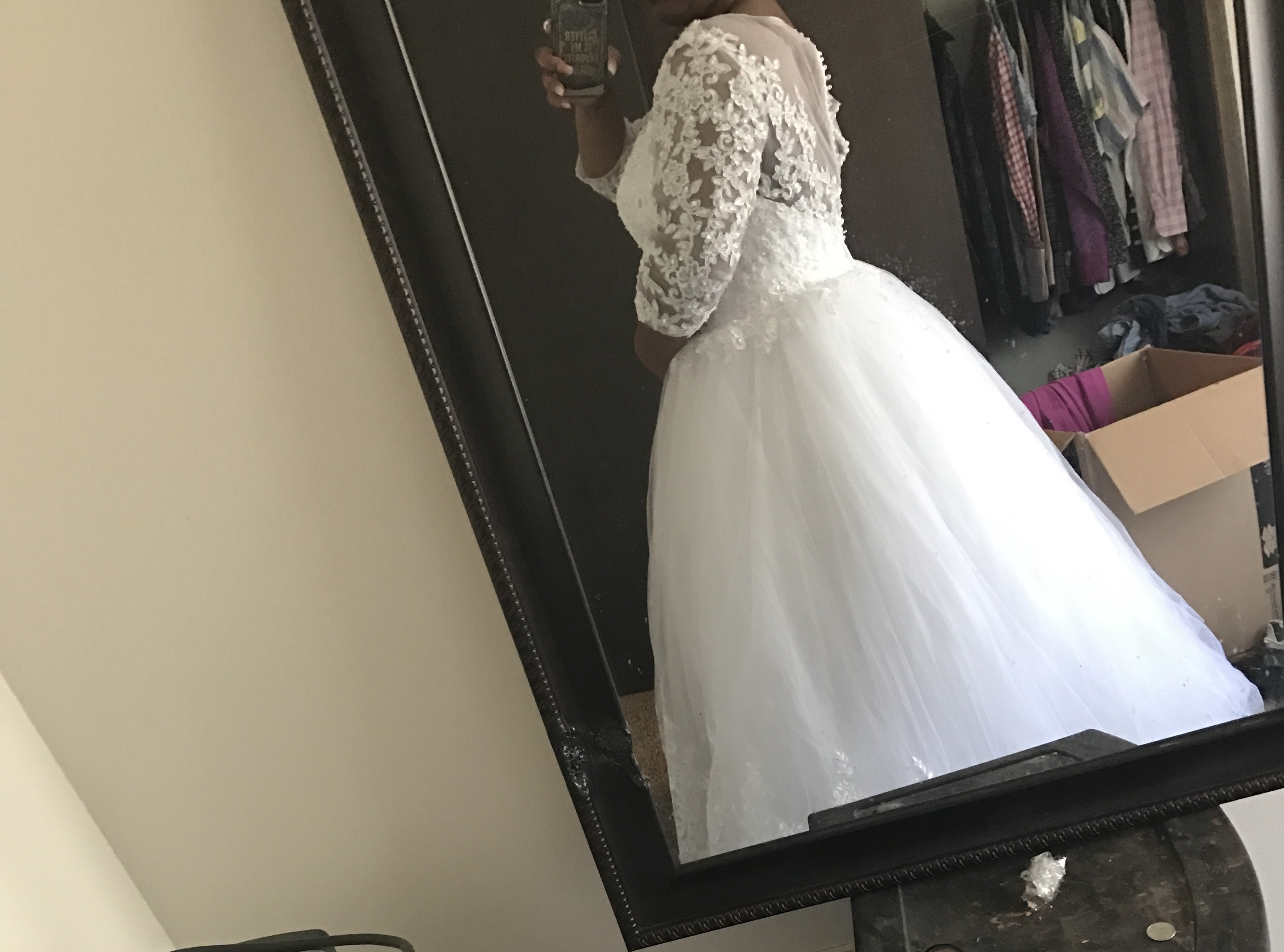 99 Dollar Wedding Gowns: Ball-Gown Scoop Neck Chapel Train Wedding Dress With