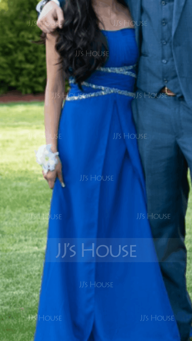 A-Line/Princess Sweetheart Floor-Length Chiffon Prom Dresses With Ruffle Beading Sequins (018059419)